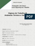 Higiene III - Ambiente Térmico e Ventilação (Jan-Fev.2017)