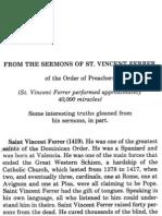 St. Vincent Ferrer- Sermon on Purgatory