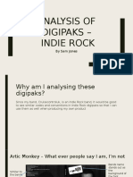 Analysis of Digipaks – Indie Rock