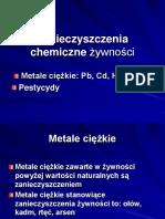 Zanieczyszczenia Chemiczne Żywności - Metale Ciężkie i Pestycydy