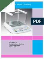 Makalah TDPLK (Perawatan Neraca Analitik)-1