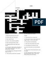 animals crosswords
