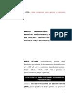 39.1- Pet. inicial - Aposentadoria por invalidez ou auxílio-doença - segurado portador de sequelas de acidente vascular cerebral.doc