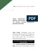 42.1- Pet. inicial - Aposentadoria por invalidez ou auxílio-doença - Concessão de benefício ao segurado desempregado.doc