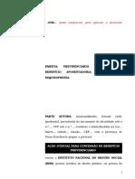 35.1- Pet. inicial - Aposentadoria por invalidez - Concessão de benefício ao segurado com esquizofrenia.doc