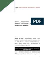 40.1- Pet. inicial - Aposentadoria por invalidez ou auxílio-doença - Concessão de benefício ao segurado com depressão.doc