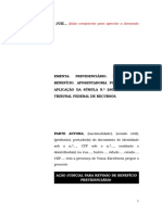 13.1- Pet. inicial - Revisão - Aposentadoria por invalidez concedida antes da Constituição Federal de 1988 – Aplicação da súmula 260 do extinto TFR.doc