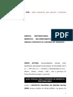 47.1- Pet. inicial - Concessão de aposentadoria - Reconhecimento de atividade urbana constante na carteira de trabalho.doc