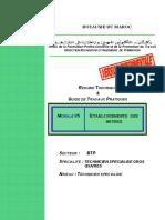M05 Etablissement Des Métrés AC TSGO-BTP-TSGO