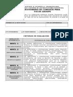Cuestionario Focus Groups