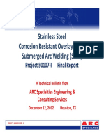 316L CRO - SAW Study - Final Report