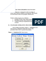 Labor Time Ticket