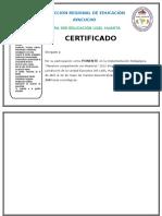 Certificado Ponente Ugel