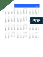 2017 Calendar Amrita