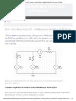 Exercício Resolvido 01 - Método de Análise de Malhas _ [EtE] ENGENHEIRO TEM QUE ESTUDAR