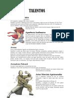 [4D&T] Talentos e Defeitos