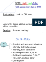 Class15 Colors AddorSubtractiveColors ColorVision Posted