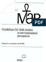 Guidelines for Field Studies in Environmental Perception. Anne Whyte. 1977