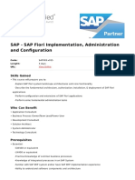 Sap Fiori Implementation Administration and Configuration