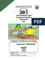 Learning Module Chs Grade 10