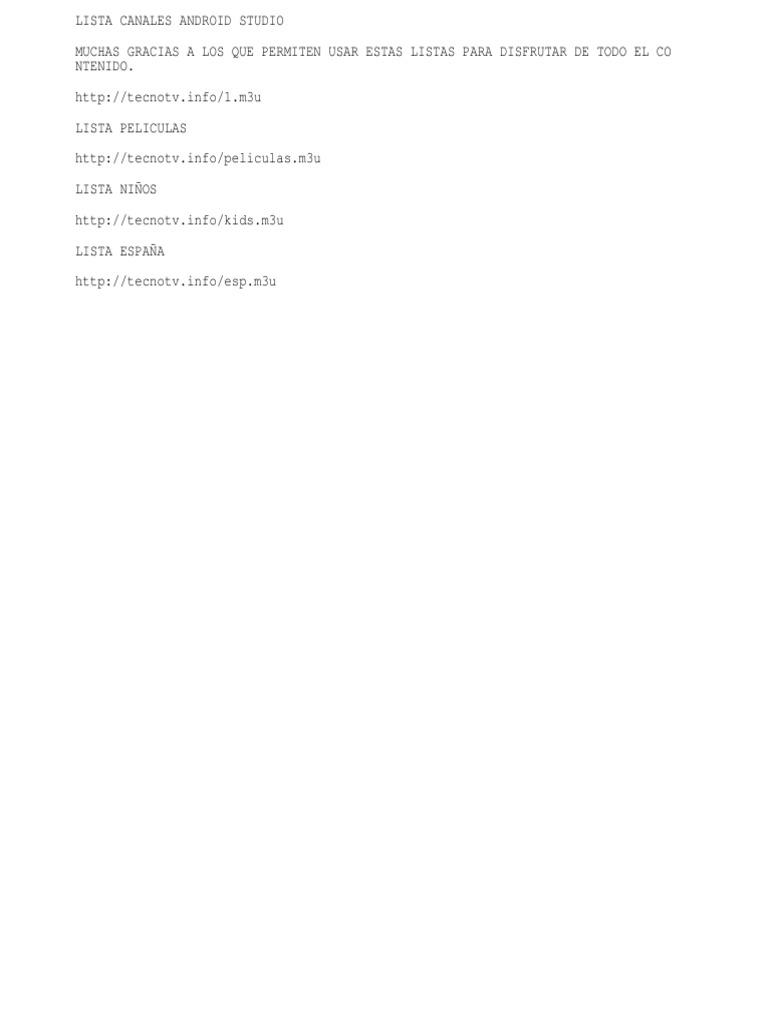 LISTAS CANALES 2 0 txt