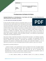 Bases de Datos CONCEPTUALIZACION y a Los Sistemas de Administración de Bases de Datos