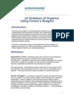 Chemical Oxidation Organics Fenton
