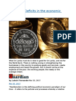 Sri Lanka  Deficits in the economic policy.docx