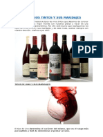 Tipos de Vinos Tintos y Sus Maridajes
