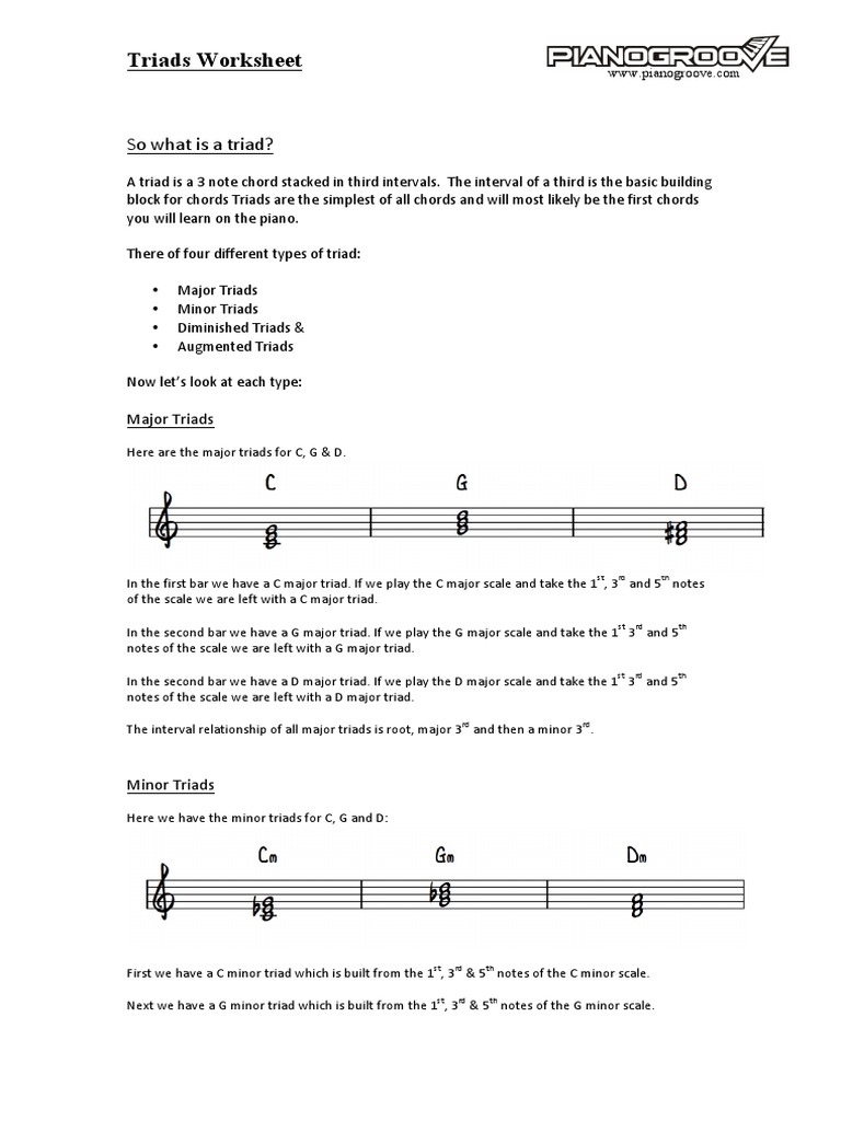 worksheet Chord Inversion Worksheet triad worksheet chord music theory
