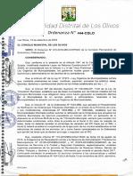 Ordenanza N° 444-CDLO