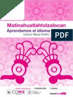 Libro Nahuatl 2017