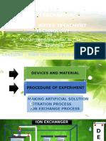 Presentation Ion Exchanger