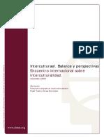 Interculturalidad Balances y Perspectivas - Tubino