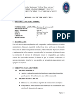 materia sistemas de informacion 2 uagrm