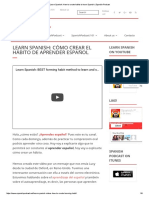 Learn Spanish_ How to Create Habits to Learn Spanish _ Spanish Podcast