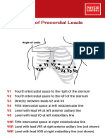 Precordial Leads Placement Card