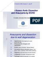 How to Assess Aortic Dissection and Aneurysms by 2D echo