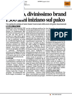 Raffaello, divinissimo brand. I 500 anni iniziano sul palco - Il Corriere Adriatico del 18 marzo 2017