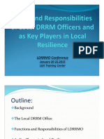 Roles and Responsibilities of Local DRRM Officers