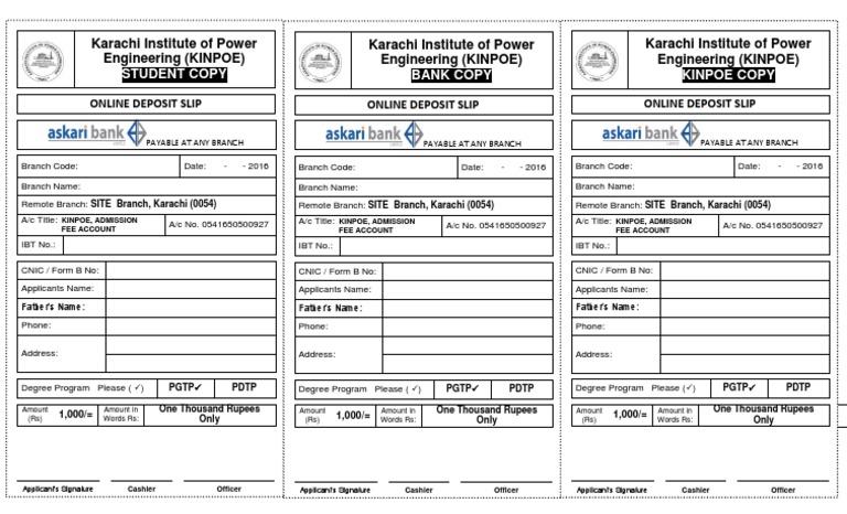 askari bank account format