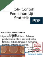 Contoh Pemilihan Uji Hipotesis Statistik (1)