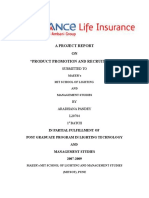 59465647 a Project Report on Reliance Life Insurance