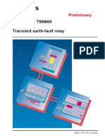 7SN600_Transient Earthfault Relay