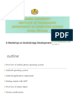 A Workshop on Android App Development