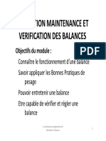 Maintenance Des Balances