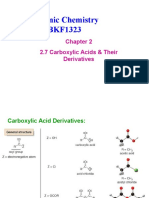 Chapter 2.7 Carboxylic Acids & Their Derivatives