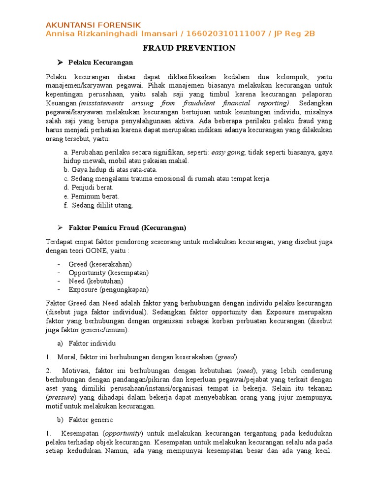 resume pencegahan fraud