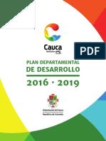 Plan de Desarrollo 2016-2019 Cauca Territorio de Paz