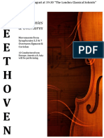 Beethoven Concert Poster